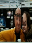 My Dad and baby sister, Kaylan making fools of themselves in Fry's